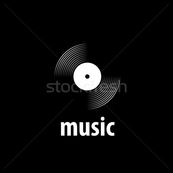 Vektor logo zene absztrakt hang minta Stock fotó © butenkow