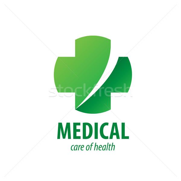 Wektora logo medycznych krzyż muzyka apteki Zdjęcia stock © butenkow
