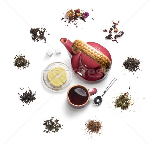 Té blanco alimentos salud Foto stock © butenkow
