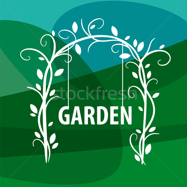 vector logo swing from vegetable pattern Stock photo © butenkow