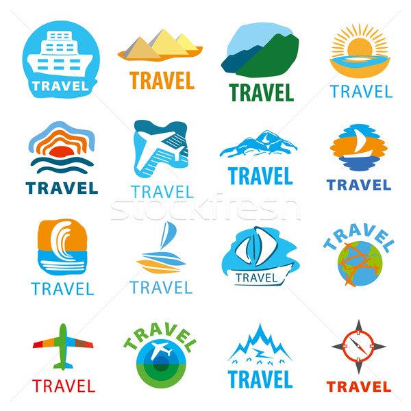large set of vector logos for travel Stock photo © butenkow
