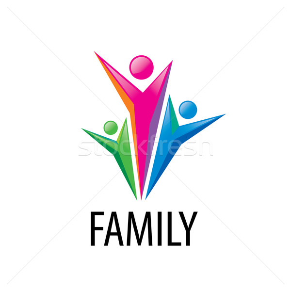 Stockfoto: Vector · logo · familie · abstract · teken · unie