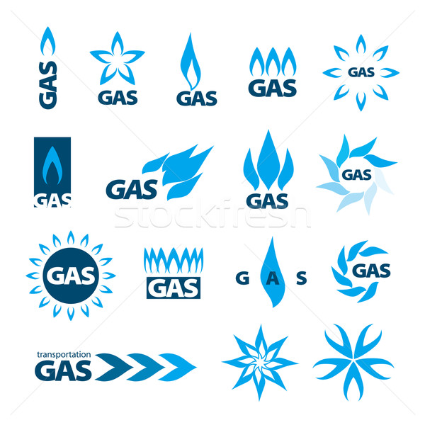 collection of vector logos of natural gas Stock photo © butenkow