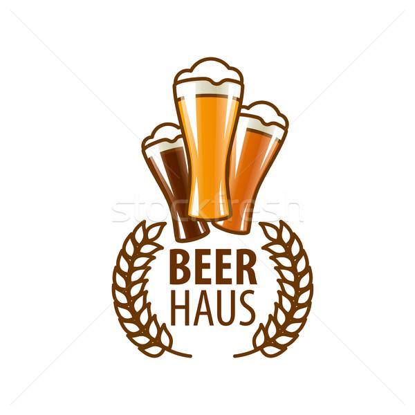 Vektor sör logo sablon üveg terv Stock fotó © butenkow