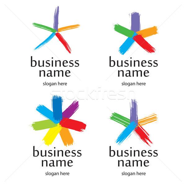 star logo brush Stock photo © butenkow