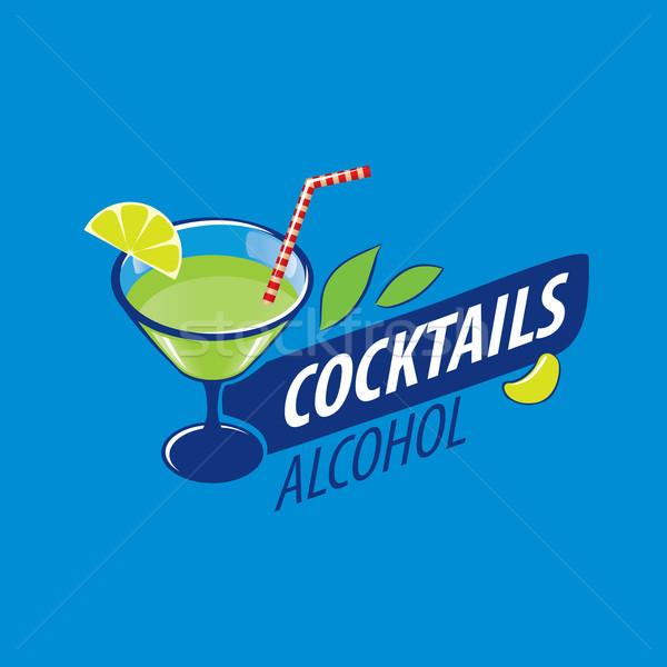 коктейли логотип вектора иконки напитки вечеринка Сток-фото © butenkow