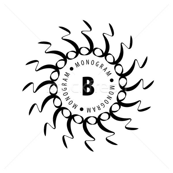 Monogram vektor keret logo sablon minta Stock fotó © butenkow