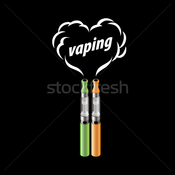 Vecteur logo électronique cigarette conception de logo modèle Photo stock © butenkow