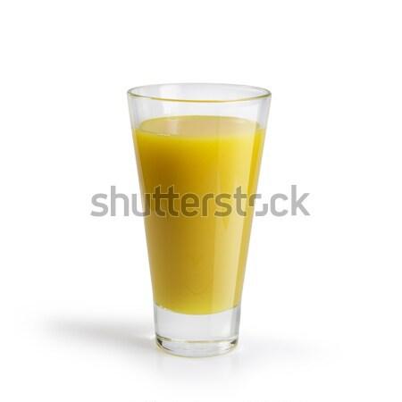Vol glas sinaasappelsap witte vruchten cool Stockfoto © butenkow