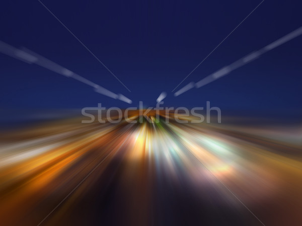the speed of light in the night Stock photo © butenkow