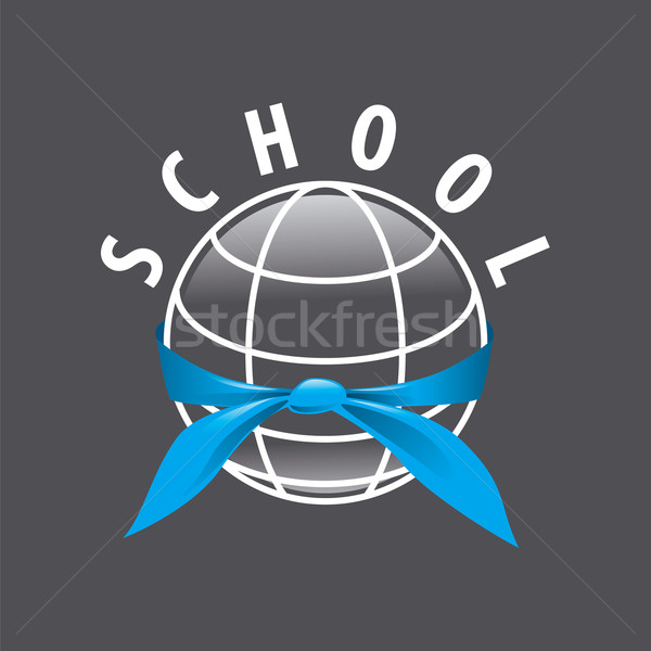 Vektor logo kék nyakkendő bolygó gyermek Stock fotó © butenkow 18efbc8ffe
