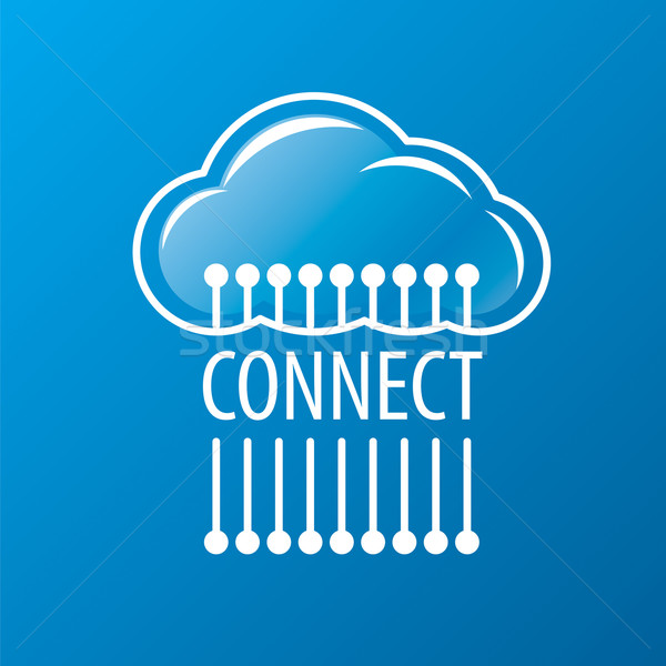 ベクトル ロゴ 接続 クラウドネットワーク ビジネス 空 ストックフォト © butenkow