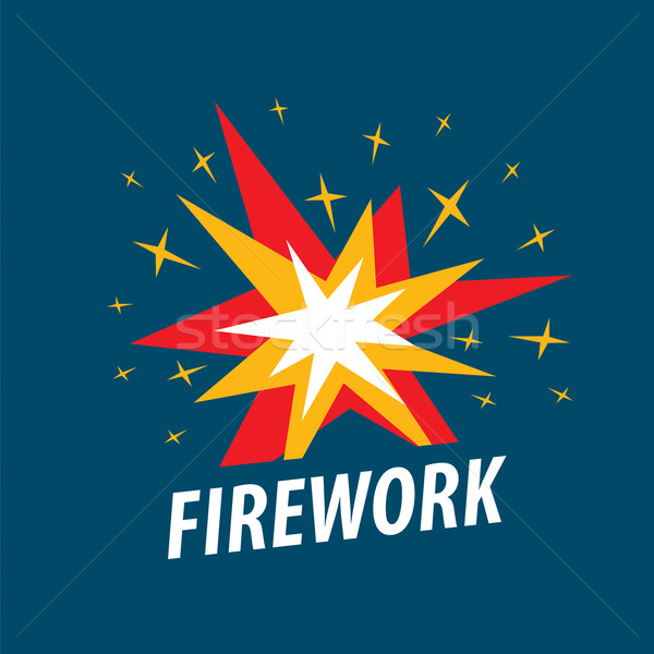 Abstract vector logo multicolored sparks Stock photo © butenkow