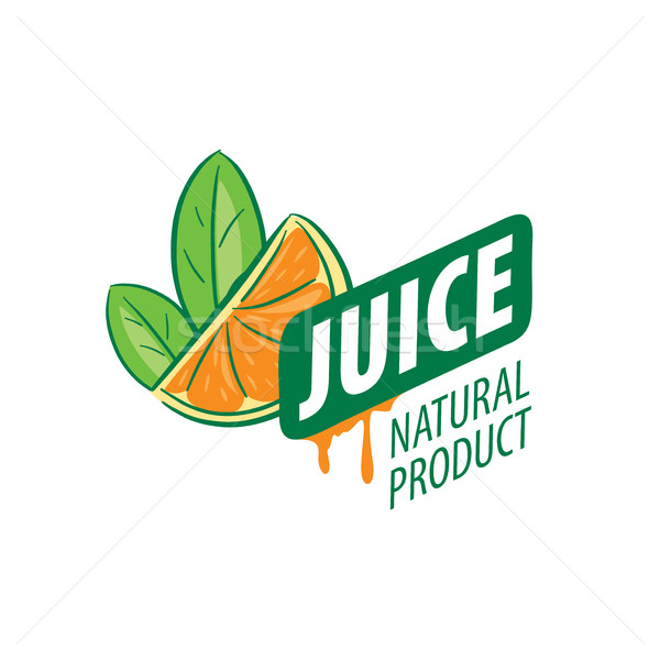 logo of fresh juice Stock photo © butenkow