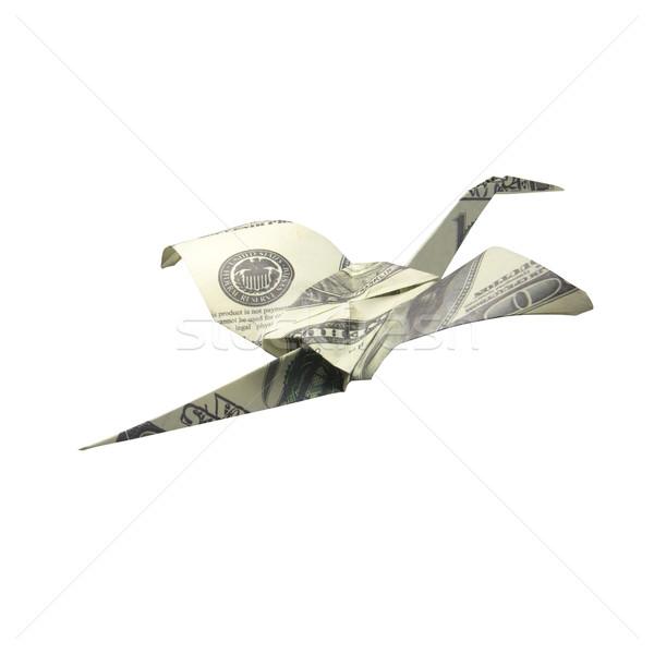 Origami aves billetes blanco dinero naturaleza Foto stock © butenkow