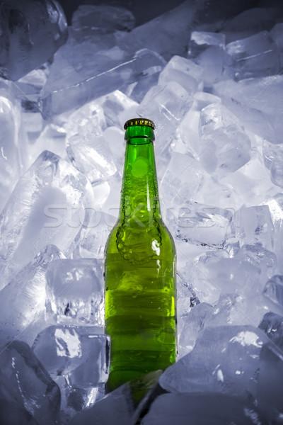 üvegek sör jég hideg üveg fény Stock fotó © butenkow