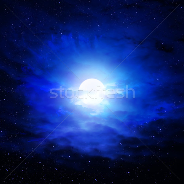 night sky moon Stock photo © butenkow