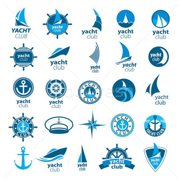 biggest collection of vector logos marina Stock photo © butenkow
