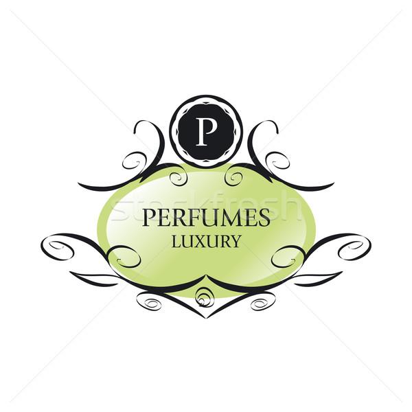abstract green vector logo for perfumes Stock photo © butenkow