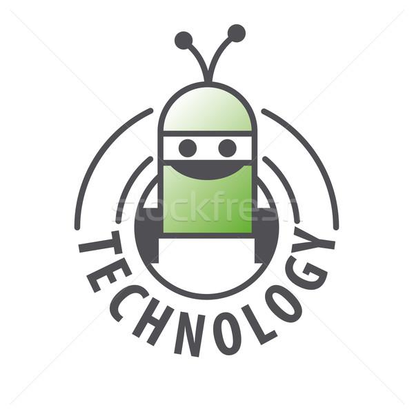 Vector logo robot dos ordenador industria Foto stock © butenkow