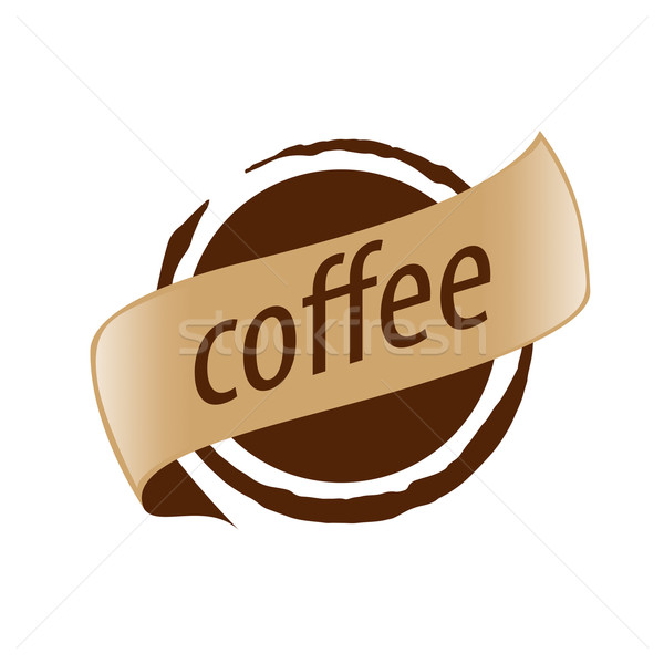 Abstract vector logo imprint coffee Stock photo © butenkow