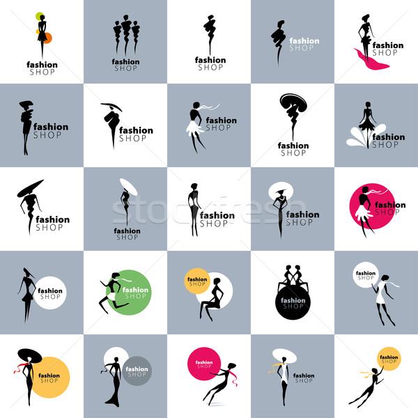 Vector logo meisjes mode illustratie meisje Stockfoto © butenkow