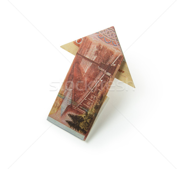 rubles arrow origami Stock photo © butenkow