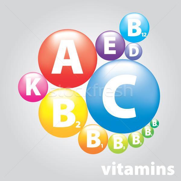 Vector sello nutrición alimentos diseno belleza Foto stock © butenkow