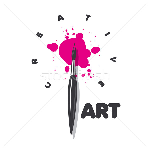 vector logo brush and blots of paint Stock photo © butenkow