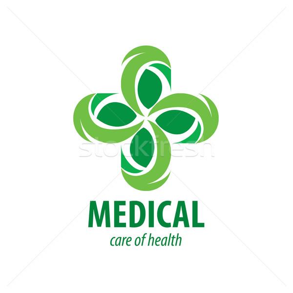 Vecteur logo médicaux croix médecine pharmacie Photo stock © butenkow
