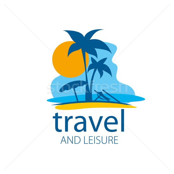 вектора логотип путешествия шаблон отдыха пляж Сток-фото © butenkow