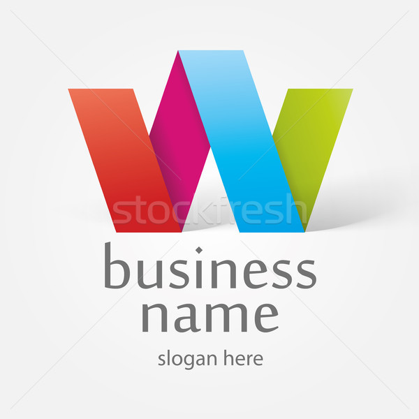 logo in the form of colorful ribbons Stock photo © butenkow