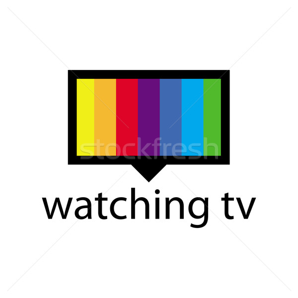 Vector logo espectro tv Screen signo Foto stock © butenkow