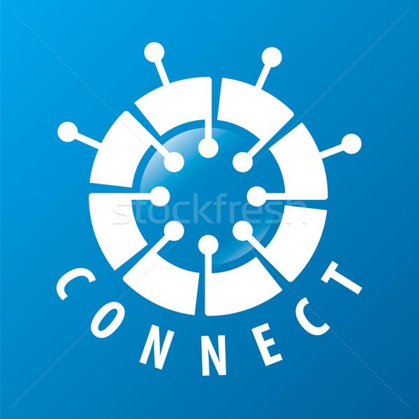 Foto stock: Vector · logo · chip · red · negocios · teléfono