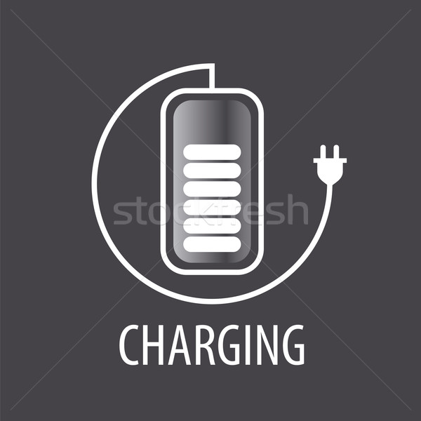 vector logo and battery cable with plug Stock photo © butenkow
