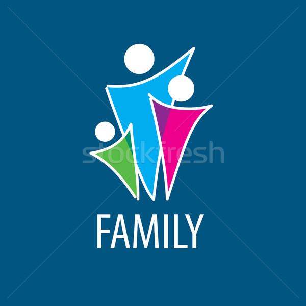 Vektor logo család absztrakt felirat szövetség Stock fotó © butenkow