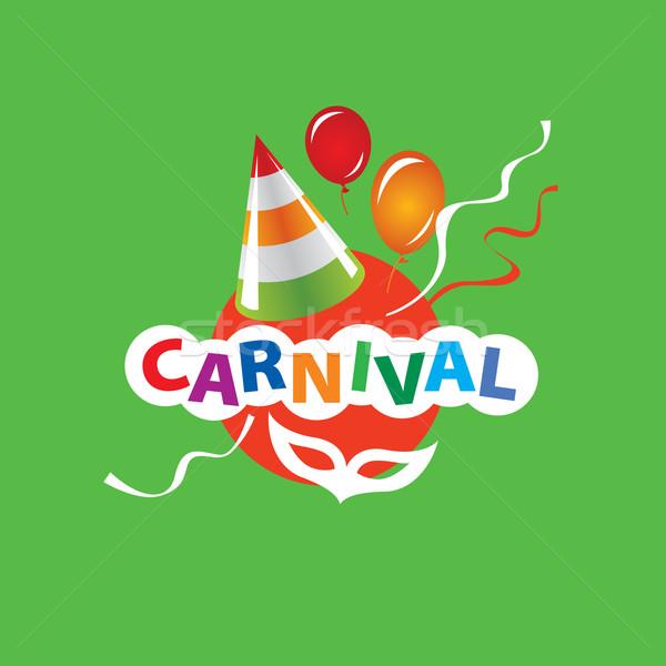Carnaval vecteur logo résumé modèle festival Photo stock © butenkow