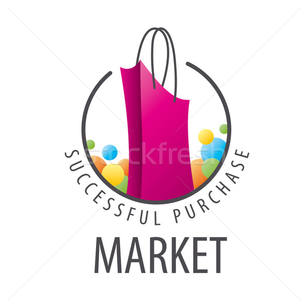 vector logo burgundy shopping bag Stock photo © butenkow