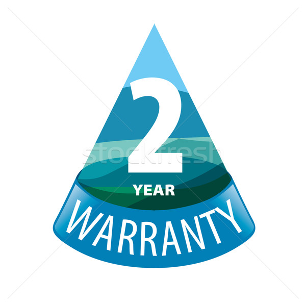 vector logo in the shape of a triangle 2-year warranty Stock photo © butenkow