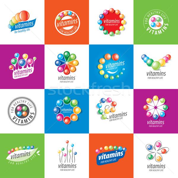 Wektora logo witaminy streszczenie szablon zdrowia Zdjęcia stock © butenkow