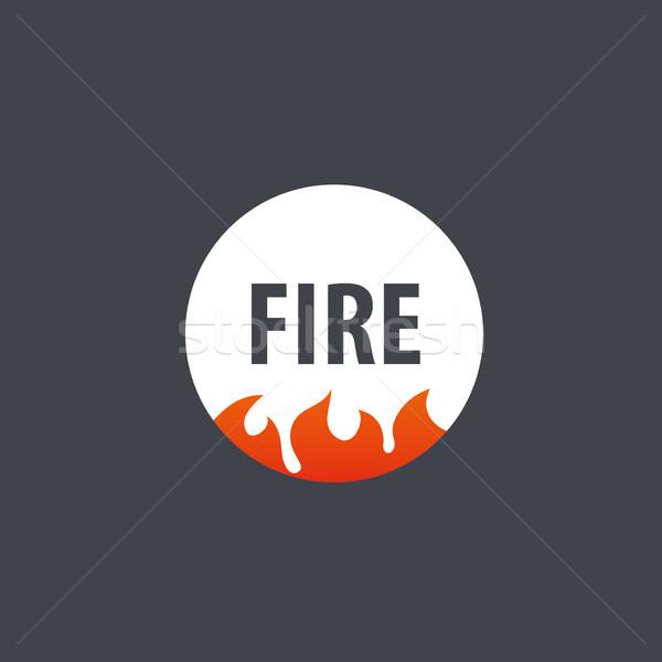 Tűz vektor logo sablon láng üzlet Stock fotó © butenkow