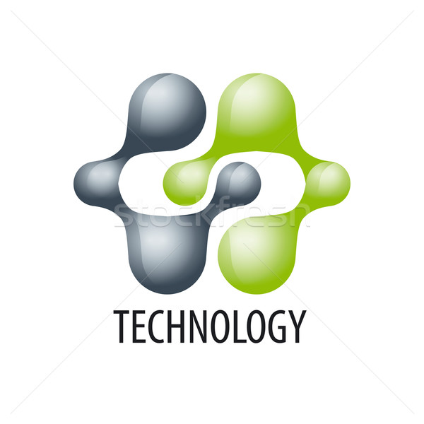Technology logo in the form of atoms Stock photo © butenkow