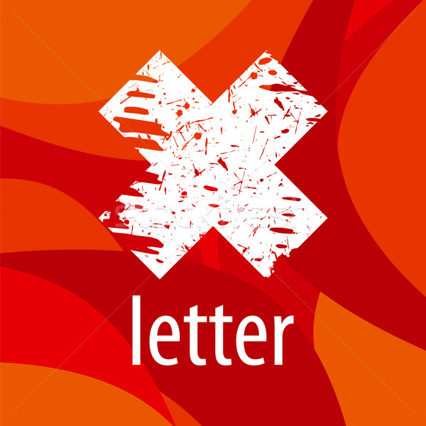 Abstract vector logo letter X on a red background Stock photo © butenkow