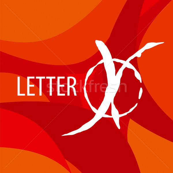 vector logo letter X on a red background Stock photo © butenkow