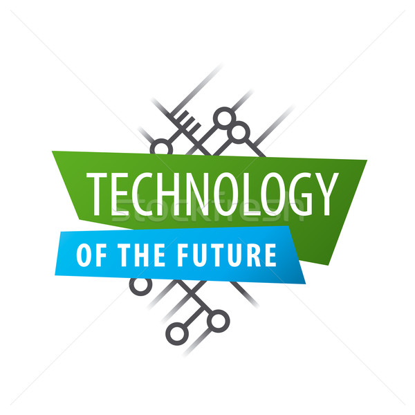 Abstract vector logo chip technology Stock photo © butenkow