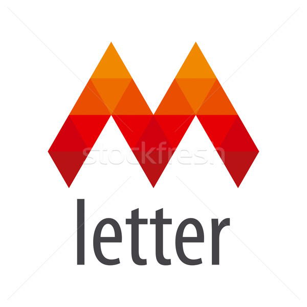 Vector logo Rood letter m module abstract Stockfoto © butenkow
