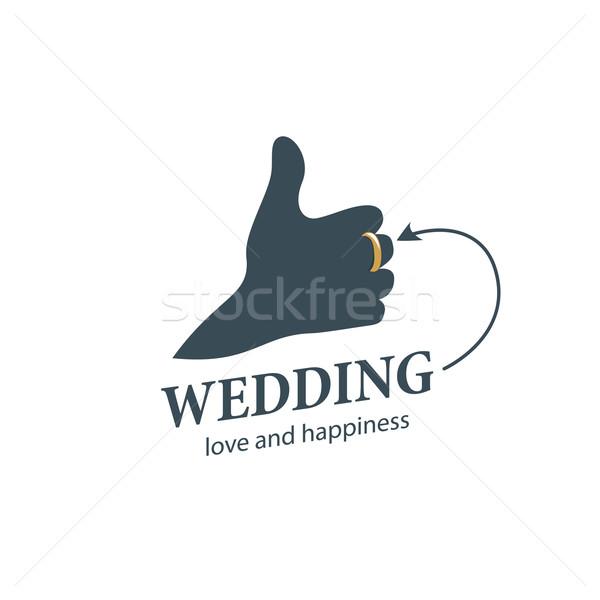 Vektor logo esküvő absztrakt sablon illusztráció Stock fotó © butenkow