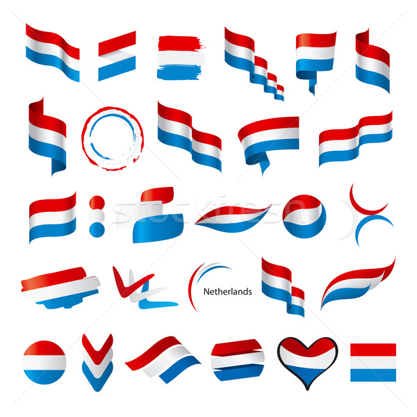 biggest collection of vector flags of Netherlands Stock photo © butenkow