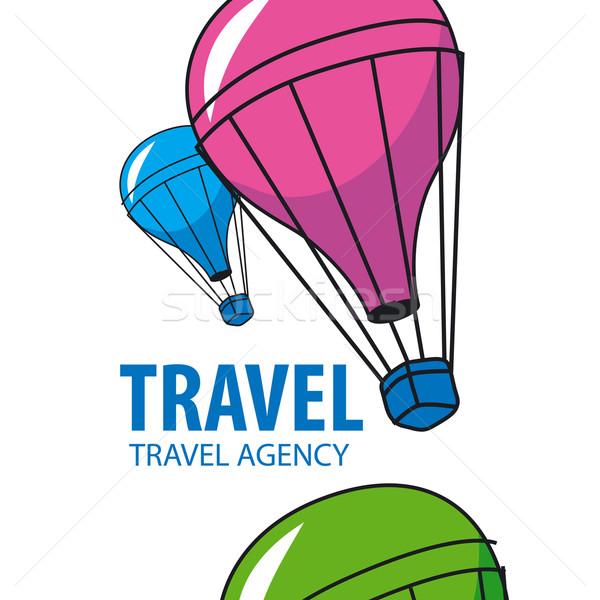 Zdjęcia stock: Wektora · logo · balon · pływające · podróży · działalności