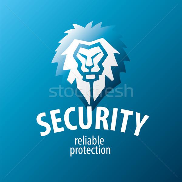 Lew wektora logo bezpieczeństwa działalności streszczenie Zdjęcia stock © butenkow